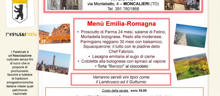 menu emilano romagnola